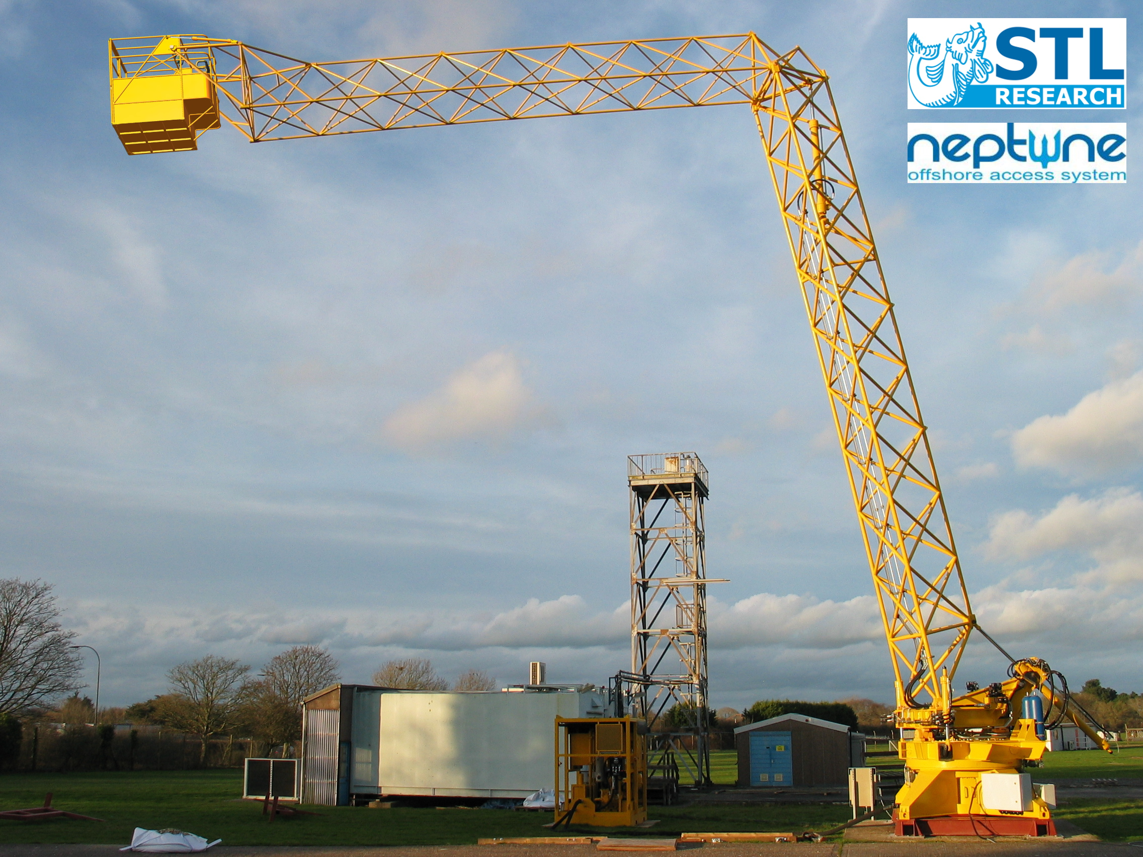 Neptune Offshore Access System undergoing land based testing.